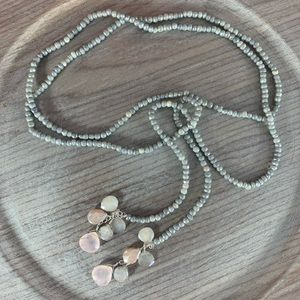 ❤️ SUNDANCE moonstone lariat-style necklace